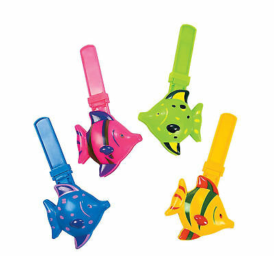 10 Tropical Fish Clappers Kid's Birthday Party Favors Ocean theme Prizes Rewards (Fishing Themed Party)