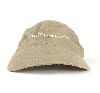 Shutterfly Inc Embroidered Logo Beige Baseball Cap Hat Adj Adult Size Cotton