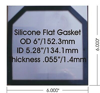 500 Pcs High Temp 1.4 Mm0.055 Flat Silicone Gaskets For 6x6 Hho Dry Cell