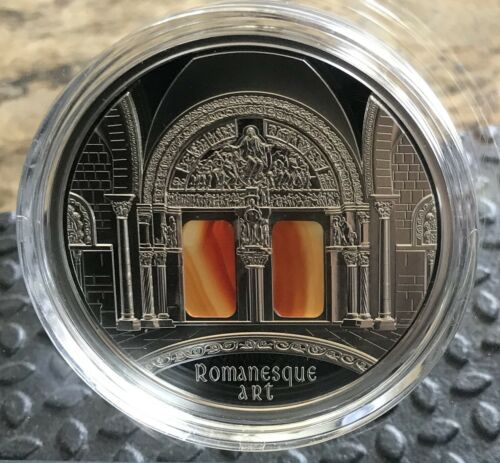 Niue 2014 10$ Romanesque Art The Art that Changed the World 3 oz Silver Coin