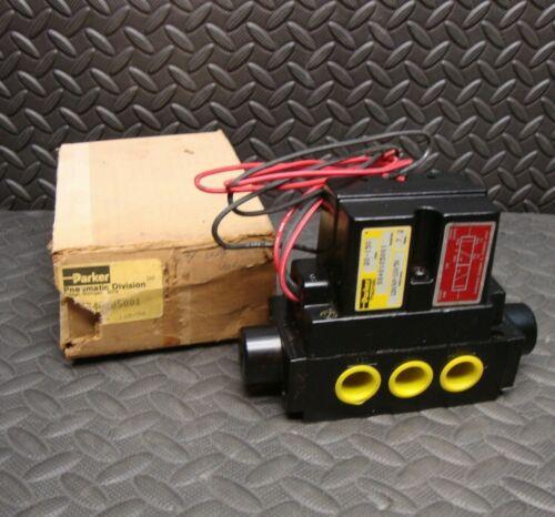 NEW Parker SS40105001 Pneumatic Solenoid Valve Air 20-150 PSI 110/120 Volt Coil