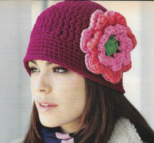 FLORAL CLOCHE HAT WITH FLOWER WOMEN
