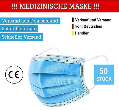 50 Stück MEDIZINISCHE MASKE OP Maske TYP2R CE Zertifiziert • Versand aus