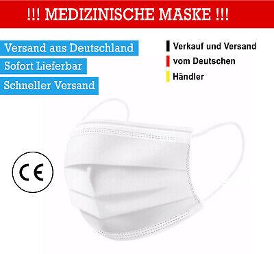 50 Stück MEDIZINISCHE MASKE OP Maske Mundschutz TYP2R CE Zertifiziert ✅