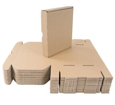 50 Cajas Cartón 22x18x4 CM de Envío Plegable Grande