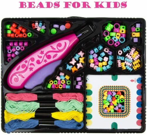 Kids Jewelry Making Kit for Girls, DIY Beads for Jewelry Making Set with Strings
