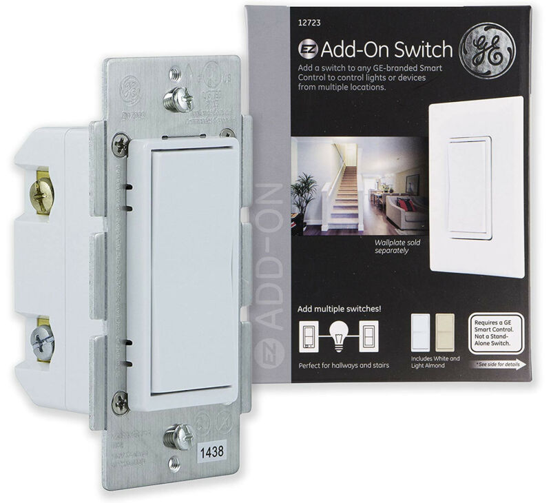 GE General Electric Add-On Switch 12723 In-Wall Lighting Controller - Smart