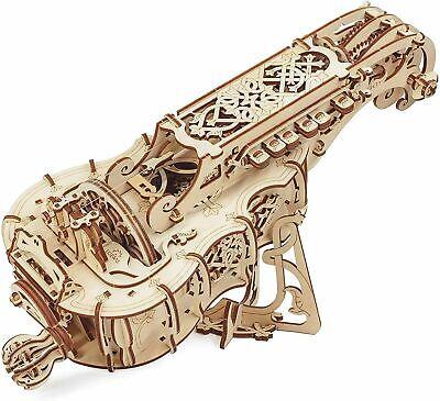 UGEARS - Holz Modellbau Hurdy-Gurdy Drehleier spielbar 3D Holzpuzzle 292 Teile