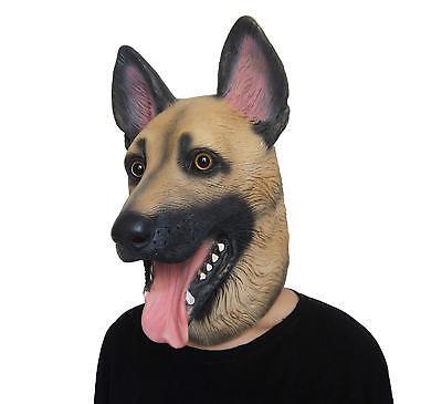 German Shepherd Dog Latex Animal Head Mask For Halloween Costume New Realistic