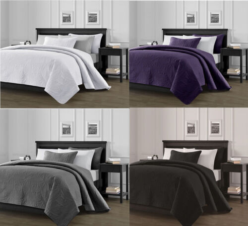 3-Piece Solid Bedspread Coverlet Pillow Case Set at Linen Pl
