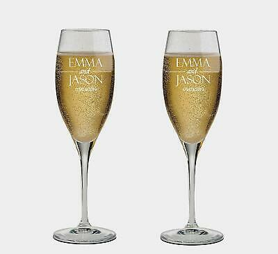 Personalized set of 2 Champagne Glass for Bride & Groom,Flutes, wedding - Champagne Glasses For Wedding