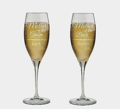 Maid of Honor and Matron of honor names Personalized set of 2 Champagne Glass - Maid Of Honor Matron Of Honor