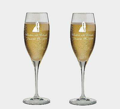 Personalized set of 2 Champagne Glass for Wedding Couple,Flutes, wedding Glasses - Personalized Champagne Glasses
