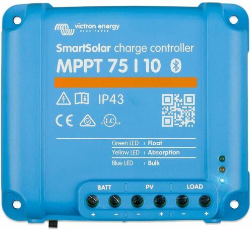 Victron Energy SmartSolar MPPT 75V 10 amp 12/24-Volt Solar Charge Controller (Bl