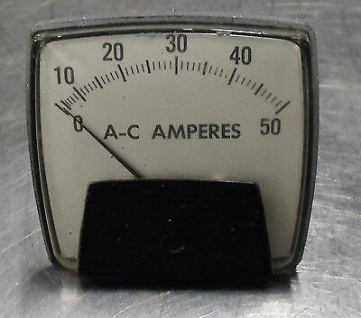 Ram Meter Ac Motor Load Analog Panel Meter 0-50 Model 250 Used Warranty