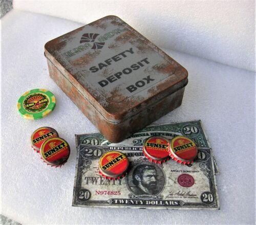 Fallout  New Vegas Dead Money Safe Deposit Box Poker Chip Sunset Caps  $20 bill