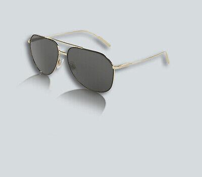 Authentic Dolce & Gabbana 0DG2166 130587 BLACK/PALE GOLD Sunglasses
