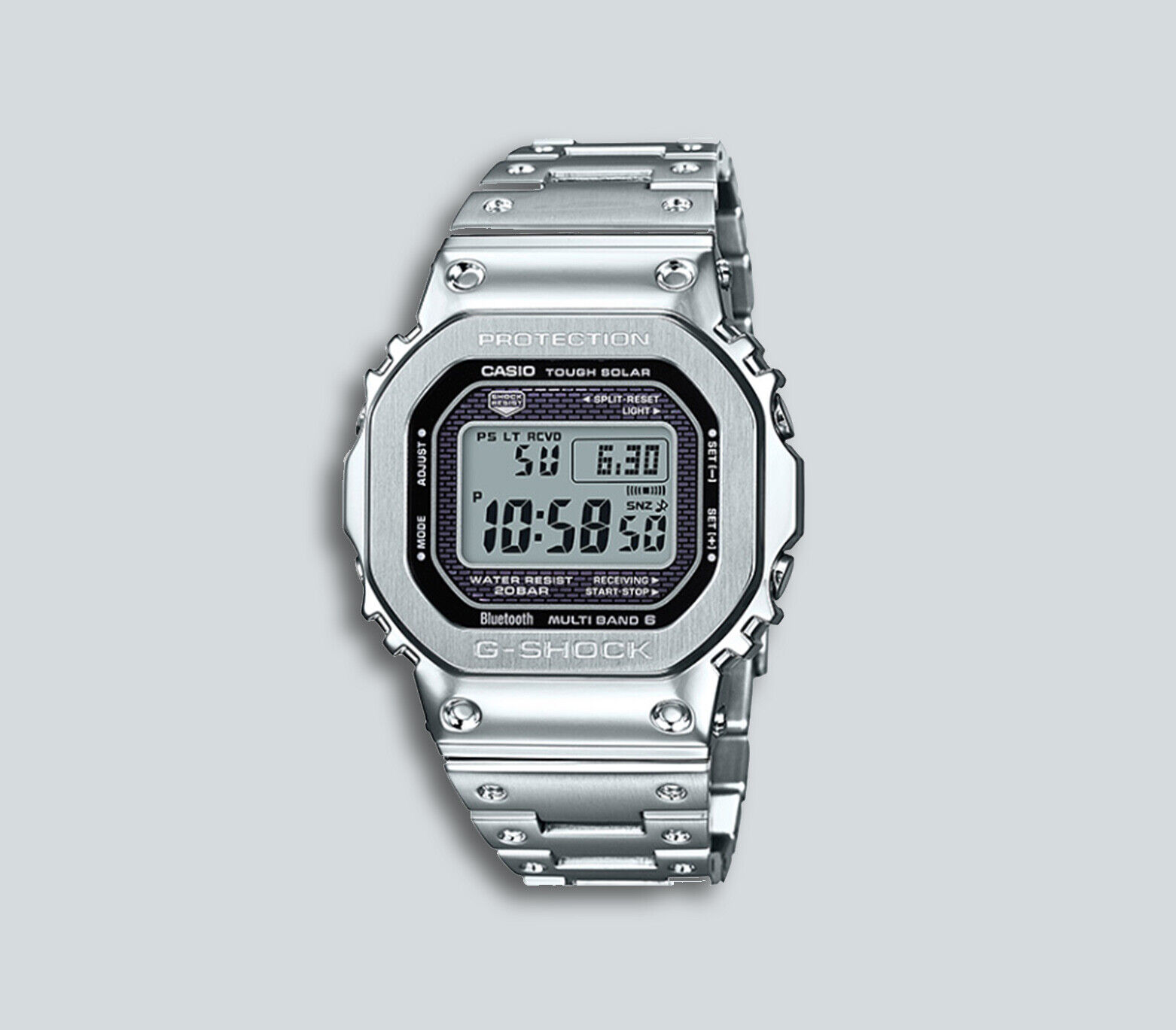 premium selection 4d72f cb4a6 Authentic Men's G-Shock Casio Digital Stainless Steel Watch GMWB5000D-1