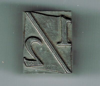 Letterpress Type 12 Fraction Vintage Lead Casting Cut Block