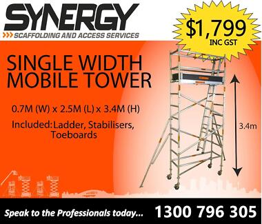 Single Width Aluminium Mobile Scaffold 3.5m Platform Revesby Bankstown Area Preview