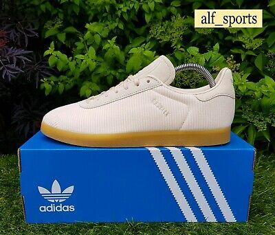 ❤ BNWB & Genuine Adidas Originals ® Gazelle Linen Corduroy Trainers UK Size 10