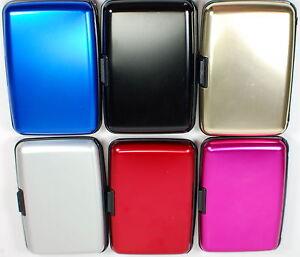 SALE-RFID-Blocking-Aluminum-Wallet-Men-Women-Credit-Card-Case-SWISS-STYLING