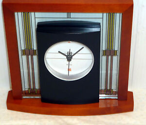 Bulova Mantel Table Clock Frank Lloyd Wright The Willits B7756