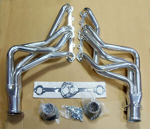 Ceramic-Coated-1966-1987-Chevy-Truck-Long-Tube-Headers-Set-305-350-C-K-1500