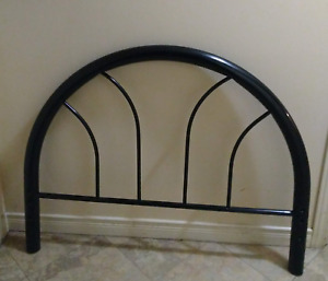 Twin Bed Frame and Headboard  - Black Metal