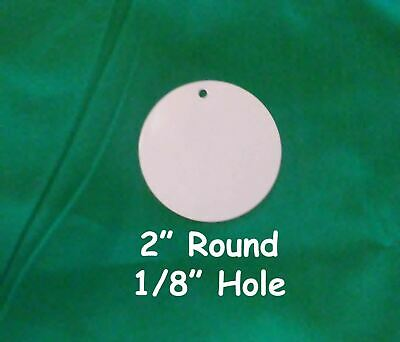 2 Round Dye Sublimation Aluminum Blank Discinsert With 18 Hole- 50pc Lots