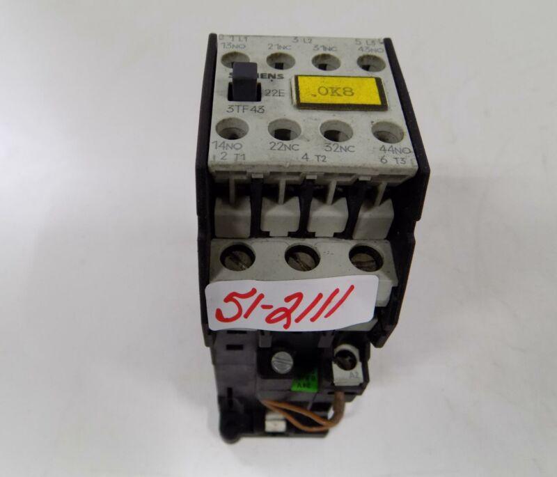 SIEMENS 24VDC COIL MOTOR STARTER 3TF4322-0B