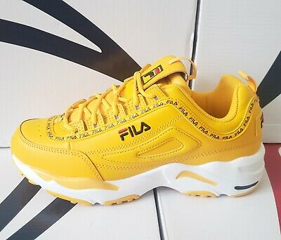 FILA Disruptor II X RAY TRACER Yellow Athletic Shoes NEW Limited Edition Classic