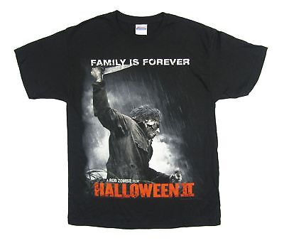 Halloween 2 Family Is Forever Black T Shirt New Official Movie Rob Zombie