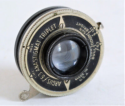 Rare Argus 6.3 Anastigmat Triplet Lens