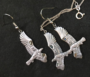 eagle earrings and pendant for necklace.