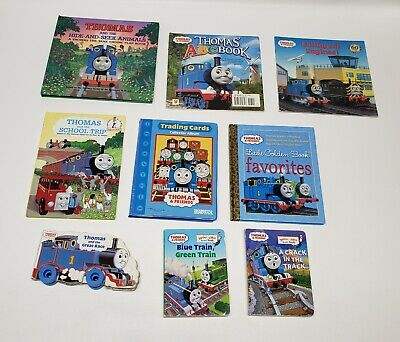 Lot of 9 Thomas the Train Children's Books Trading Cards + Album