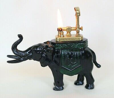 VINTAGE ELEPHANT  FIGURAL  LIFT ARM TABLE LIGHTER IN WORKING CONDITION 1930s for sale  Ridgewood