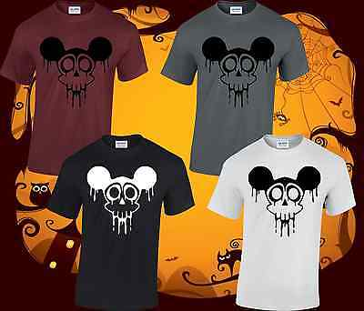 DEAD MICKEY HALLOWEEN COSTUME MENS T SHIRT FANCY DRESS SCARY DISNEY SPOOKY - Dead Disney Costumes