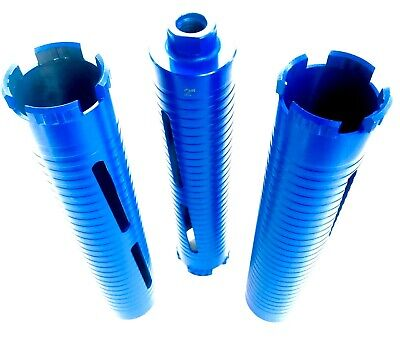 3pk Of 2 Dry Core Bit Laser Welded For Concrete With Steel Hard Masonry Stone