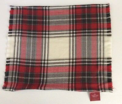 "Pottery Barn Hamilton Plaid Pillow Cover 20x20"" New with Tags"