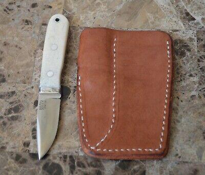 Bark River Knives CPM 154 White Bond Handle Leather Double KSF Sheath Knife
