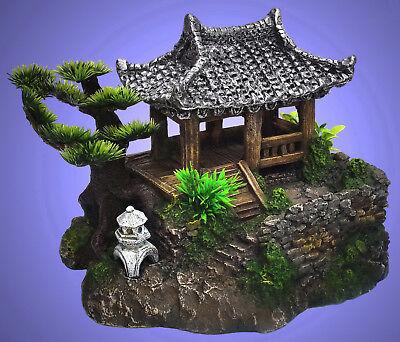 Aquarium Deko ❤️ China Garten Haus ❤️ mit Höhle Dekoration Zubehör (Aquarium Dekoration Garten)