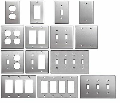 Brushed Satin Nickel Stainless Steel Wall Covers Switch Plates & Outlet Covers