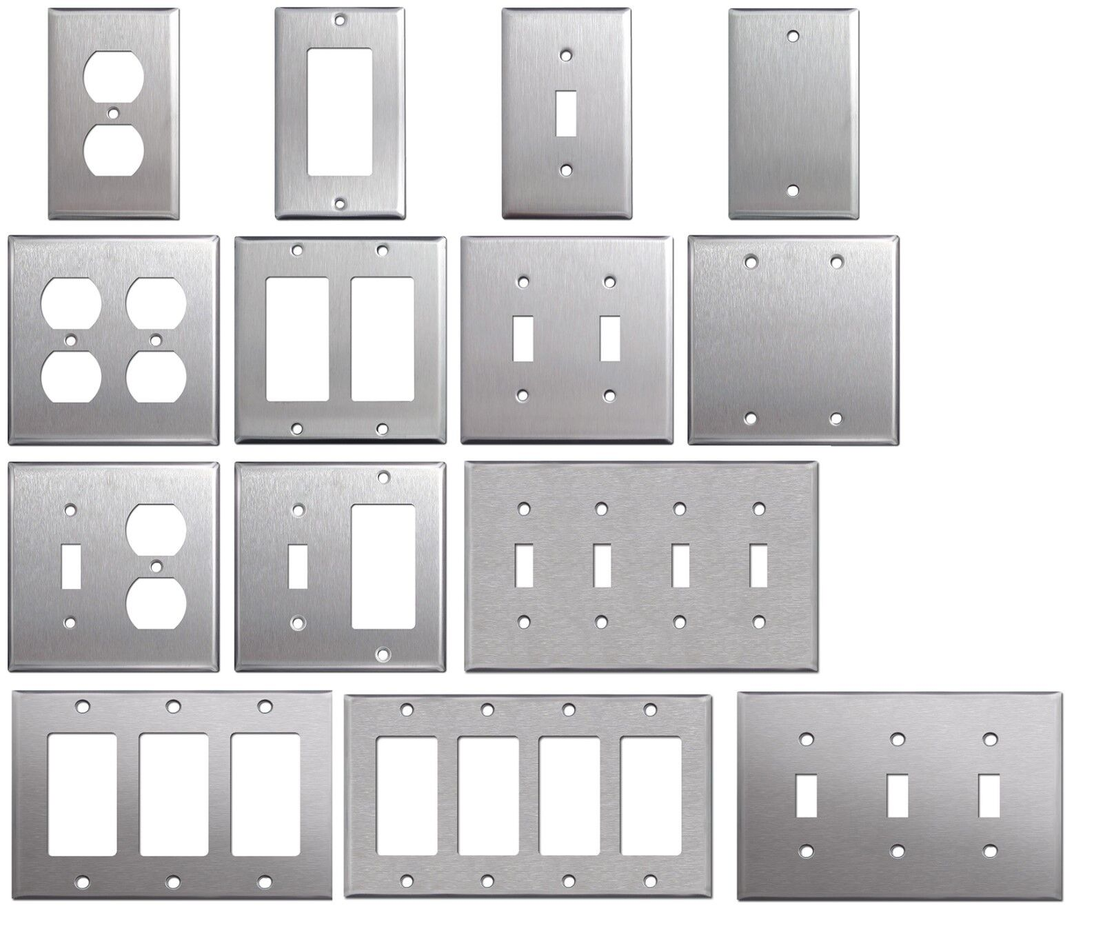 Picture of: Brushed Satin Nickel Stainless Steel Wall Covers Switch Plates Outlet Covers For Sale Online Ebay