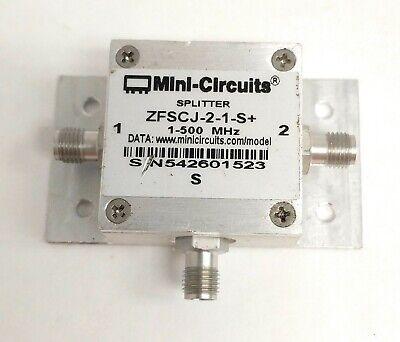 Mini-circuits Zfscj-2-1-s 2-way Power Splittercombiner 1-500 Mhz 50 Sma