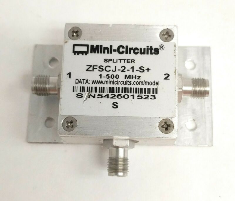 Mini-Circuits ZFSCJ-2-1-S+ 2-Way Power Splitter/Combiner 1-500 MHz 50Ω SMA