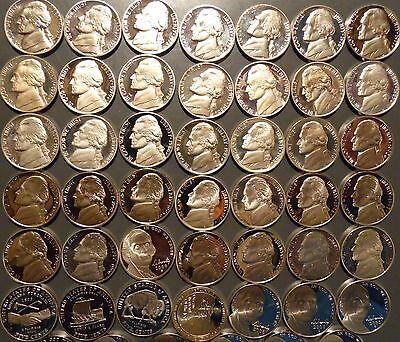 1968-S thru 2019-S Jefferson Nickel Gem Proof 55 Coin Complete Date Set Run