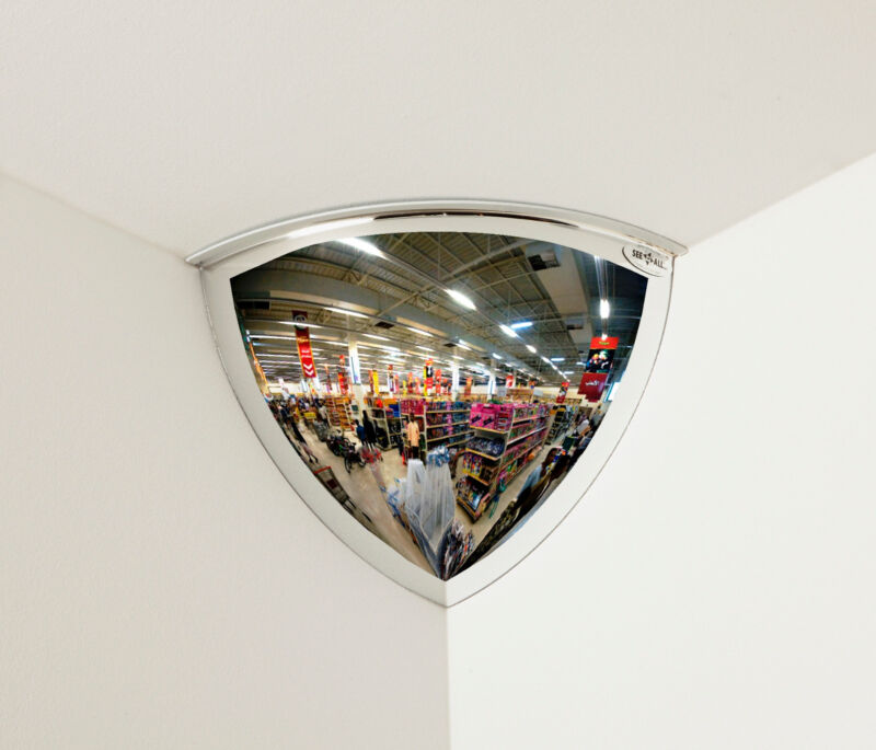 """QUARTER DOME CONVEX MIRROR 18"""" GREAT FIT AND FINISH NEW 90° VIEWING TPV18-90"""