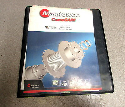 Manitowoc Cranecare Grove Manlift National 880c Owners Manual 30625