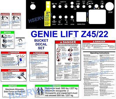 Genie Lift Z4522 Decal Set
